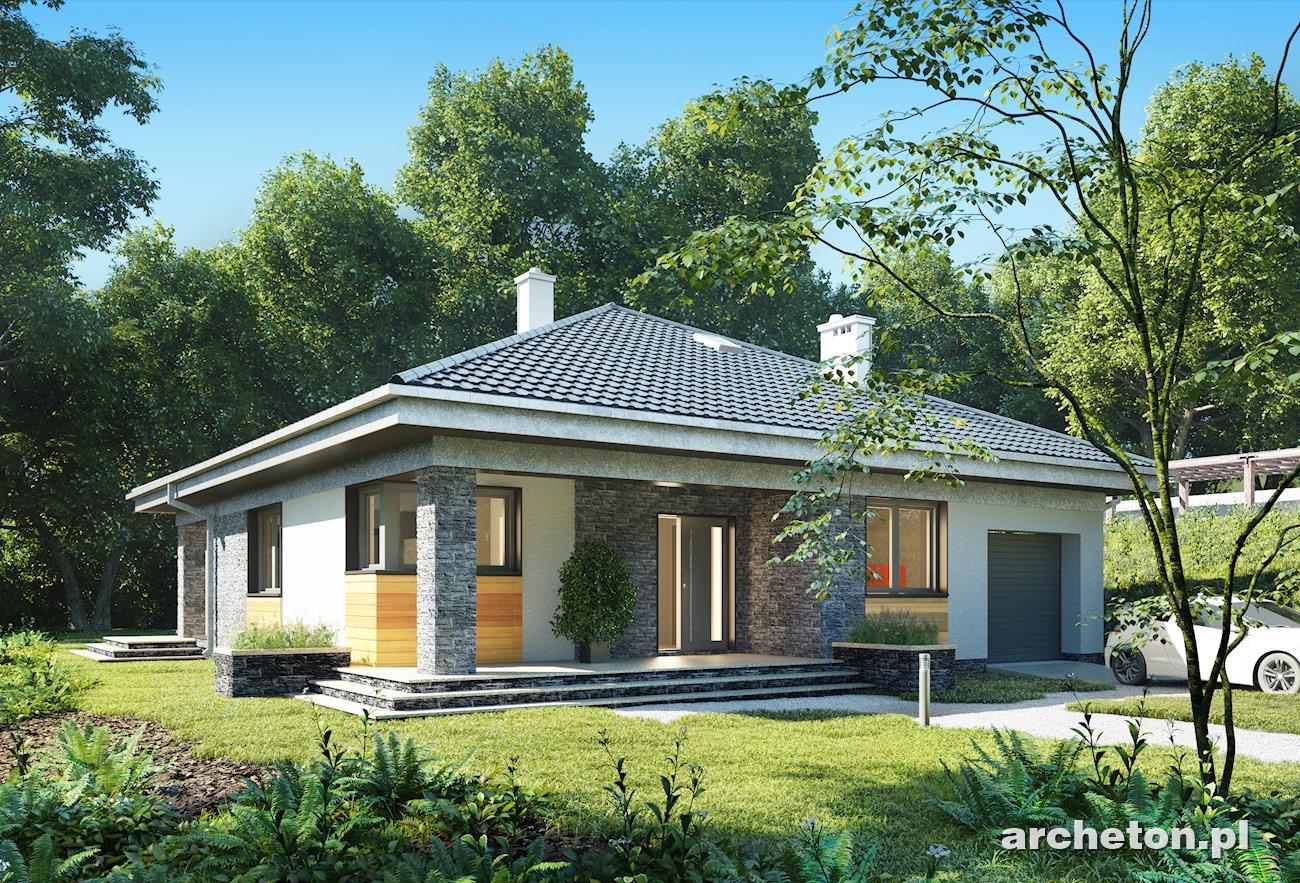 Projekt domu w zabudowie szeregowej