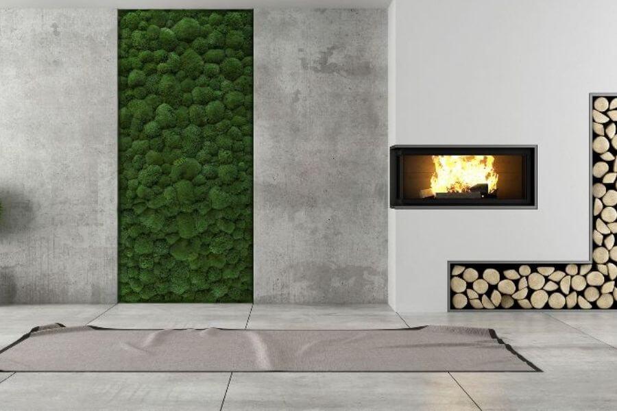 efekt surowego betonu na ścianie